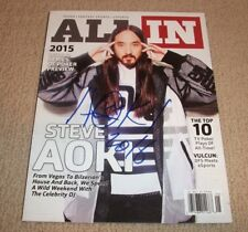 STEVE AOKI - Signed All In Poker Magazine *Autographed* DJ EDM (Tiesto, Zedd)