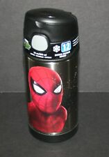 New Spiderman Funtainer Thermos Water Straw Bottle Cup 12 oz Insulated Cold NEW