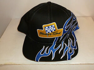 HAT MILLER TIME LITE W/FLAMES ONE SIZE FITS MOST 1998 NEW W/TAG SUPER SPORT