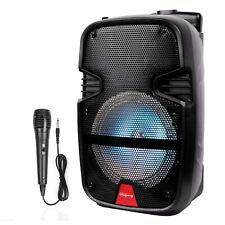 "8"" 4400Watt Portable Fm Bluetooth Speaker Sound System Party Tailgate Mic Remote"