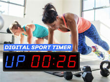 DIGITAL TIMER INTERVAL CLOCK COUNTDOWN GYM STUDIO FITNESS 6 Figures Timer