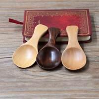 Wooden Spoon Scoop Honey Coffee Condiment Salt Sugar Spoon Decor