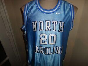Vtg North Carolina Tar Heels Blue NCAA Basketball Screen Jersey Youth XL / Men S