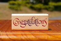 Congratulations Wood Mounted Rubber Stamp by Inkadinkado #6438-L