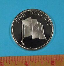 1975 Elizabeth II Bahamas Island $5 PROOF COIN - over 1.25 oz of pure Silver