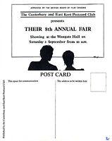 1989 CANTERBURY POSTCARD FAIR ADVERTISING LIMITED EDITION MINT POSTCARD