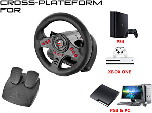 Xbox One Steering Wheel Pedal Set PS4 PS3 Pc Gaming Racing Driving Simulator