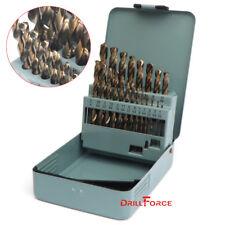 21Pc Cobalt Drill Bit Set HSSCO M35 Twist Metal Multi Drill Bits 135 Split Point