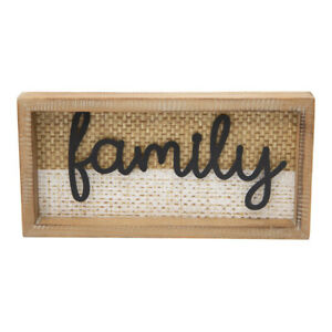 Natural & Whitewash 'Family' Wooden Tabletop Decor