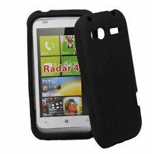 Silikon Case für HTC Radar in schwarz (Omega) Handyhülle Schutzcase Cover