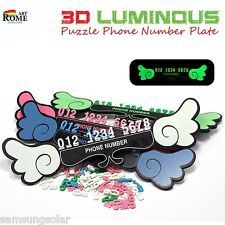 3D Lumindus Puzzle Car Parking Phone Number Notification Plate Car Parking