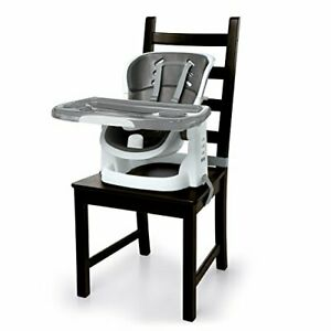 Ingenuity Infant-to-Toddler SmartClean ChairMate High Chair Booster Seat - Slate