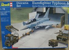 1/72 Revell Eurofighter Typhoon Diorama Set Shelter + Base, Ground Support Equip