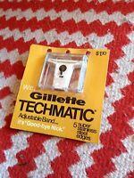 New Gillette Techmatic Adjustable Razor Band Cartridge ~RARE~