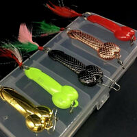 5Pcs/Box Fishing Lures Spoon Bait Hard Metal Dick Baits Penis Lure New Gag Gift