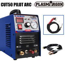 Cut50 Pilot Arc Air Plasma Cutter Machine Dc Inverter 50a 110220v Amp Wsd60 Torch