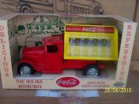 Coca Cola BOTTLE 10 Mini GLASS 1930 Coke Truck METAL Carrier Delivery Steel NIB