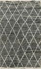 Trellis Vegetable Dye Authentic Moroccan Oriental Area Rug Hand-knotted Wool 5x7