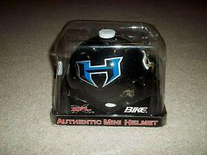 Vintage Rare XFL NY NJ Hitmen Bike Authentic Mini Helmet 2000 NIP
