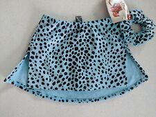 NEW Mondor 6301 Figure Skating Skirt Skort GlitterDalmatian Printed Velvet 8-10