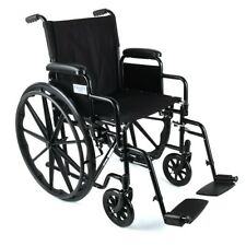 EQUATE TRANSPORT WHEELCHAIR, BLACK *DISTRESSED PACKAGING