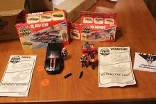 Mask Kenner Raven, Vampire complete w/boxes, men, discs, missiles
