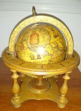 New ListingVintage Wood World Globe Olde World Globes Zodiac Astrology Zona Made In Italy