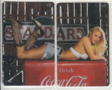 GREECE puzzle of 2 Amimex calling cards Coca Cola 100ex mint
