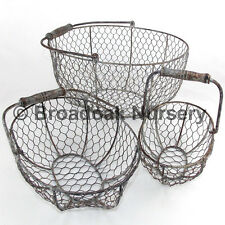 Rustic Metal Wire Mesh Storage Basket, Trug, Rustic, Vintage, Wedding, Kitchen