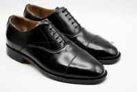 Hommes Fait à la main Cuir noir véritable Embout Formel Des chaussures