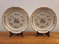 "Set of 2 International Stoneware Heartland 10 3/4"" Scallop Rim Dinner Plates"