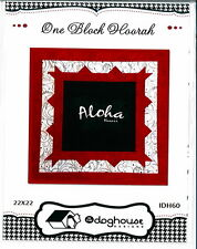 "One Block Hoorah ~ quilt pattern by Dog House Designs 22x22"" Perfect for T-Shirt"