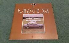 January 1980 FIAT 131 MIRAFIORI SUPERMIRAFIORI UK BROCHURE L CL SPORT Saloon