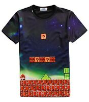 Mario Retro Gamer T-Shirt (all over 3d printed cartoon super mario t shirt)