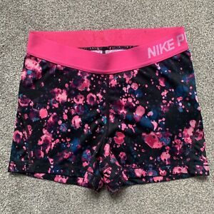 "Nike Pro Cool 3"" Microcosm Print Shorts Vivid Pink/Black SIZE M Compression"
