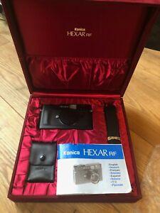 Konica Hexar RF Leica M Mount Rangefinder 35mm Film Camera Excellent Condition