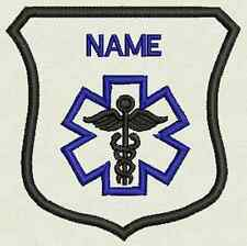 "Crest Custom Embroidery Medical, Tag, Patch, Badge  Iron On or Sew On - 3""x3.30"""