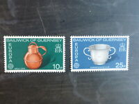 GUERNSEY 1976 EUROPA HAND CRAFTS SET 2 MINT STAMPS