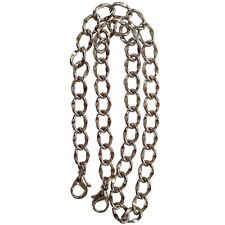 Silver tone Curbed Link Replacement Shoulder Purse Chain Double Jump Ring