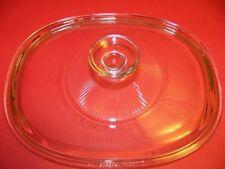 "PYREX vintage oblong 6.5x9"" glass casserole dish ovenware bakeware lid clear GUC"