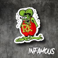 RAT FINK RAT ROD Decal Sticker for Mancave Rat Hot Rod Americana Decals Stickers