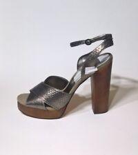 Dolce Vita Women's Callista Pewter Ankle Strap Peep Toe Platform Shoes Size 10 M