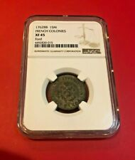 1762 1SM FRENCH COLONIES NGC XF 45