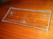 ATOMIC AGE DESIGN 1950 Mid Century Modern OBSTSCHALE Kristall SELTENHEIT !