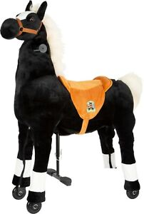 Reitpferd schwarz ca. 88 x 35 x 93 cm Sitzhöhe ca. 67 cm belastbar bis ca. 65 kg
