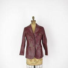Vintage Etienne Aigner Leather Jacket Two Button Blazer Womens Size 10