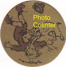 Journée Pasteur Mai 1923 -  insigne en carton - motif : Chien mordant un enfant