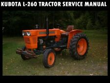 KUBOTA L260 WORKSHOP SERVICE MANUAL for L-260 D Tractor Tuning & Shop Repair