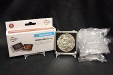 6 Silver 39mm 1oz Coin Holder Capsule + Stand Lighthouse QUADRUM INTERCEPT Case