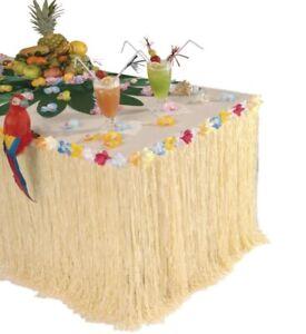 HAWAII TISCHDEKO Partydeko Tropische Südsee Karibik Hula Bast Tisch Deko #5509